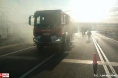 Pożar samochodu na DK30 4