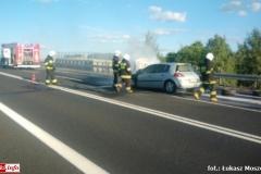 Pożar samochodu na DK30 5