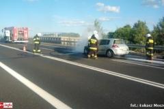 Pożar samochodu na DK30 6