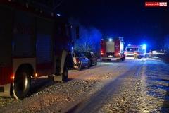 Pożar samochodu w Wojciechowie 1