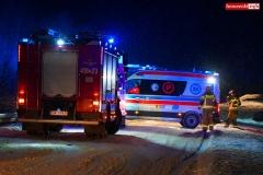 Pożar samochodu w Wojciechowie 2