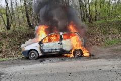 Pożar samochodu Fiata Punto 1