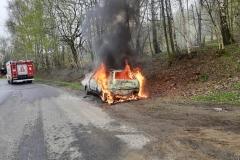 Pożar samochodu Fiata Punto 2