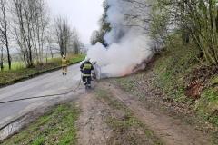 Pożar samochodu Fiata Punto 3