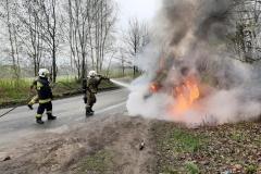 Pożar samochodu Fiata Punto 4