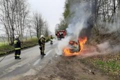 Pożar samochodu Przecznica 1