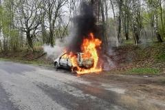 Pożar samochodu Przecznica 2