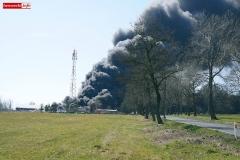 pożar składowiska koło Gryfowa 2