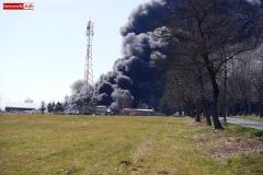 pożar składowiska koło Gryfowa 3