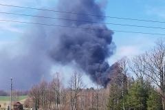 pożar składowiska koło Gryfowa 5