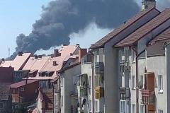 pożar widziany z Gryfowa