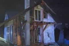 Pożar domku letniskowego w Gajówce (1)