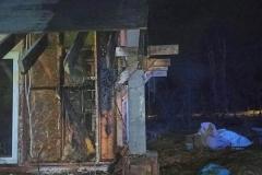Pożar domku letniskowego w Gajówce (2)