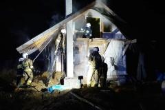Pożar domku letniskowego w Gajówce 4