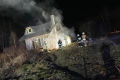 Pożar domku letniskowego w Gajówce 5