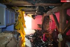 Pożar rodzinnego domu dziecka w Rębiszowie 04