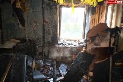 Pożar rodzinnego domu dziecka w Rębiszowie 05