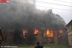 Pożar stodoły w Wojciechowie 01