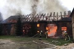 Pożar stodoły w Wojciechowie 02