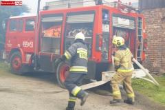 Pożar stodoły w Wojciechowie 08