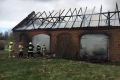 Pożar stodoły w Wojciechowie 1