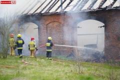 Pożar stodoły w Wojciechowie 17