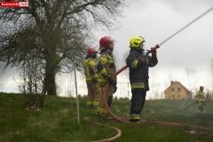 Pożar stodoły w Wojciechowie 19