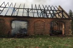Pożar stodoły w Wojciechowie 2