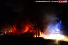 Pożar w Zaciszu koło Leśnej 1