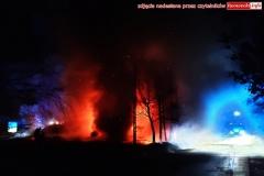 Pożar w Zaciszu koło Leśnej 2