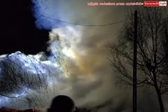 Pożar w Zaciszu koło Leśnej 3