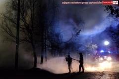 Pożar w Zaciszu koło Leśnej 4