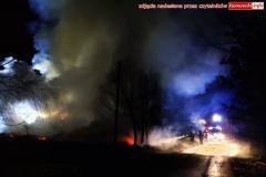Pożar w Zaciszu koło Leśnej 5