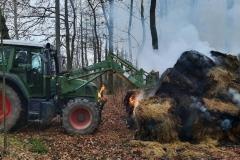 Pożar bel siana Wojciechów  - fot. OSP KSRG Lubomierz