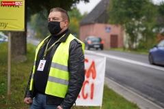 Protest na drodze krajowej w Chmieleniu 01