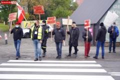 Protest na drodze krajowej w Chmieleniu 07