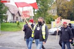 Protest na drodze krajowej w Chmieleniu 08