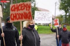 Protest na drodze krajowej w Chmieleniu 11