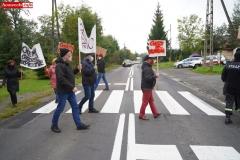 Protest na drodze krajowej w Chmieleniu 13