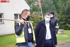 Protest na drodze krajowej w Chmieleniu 15