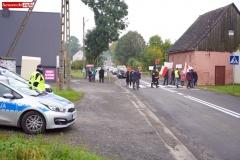 Protest na drodze krajowej w Chmieleniu 17