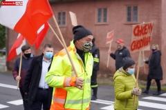 Protest na drodze krajowej w Chmieleniu 18