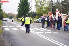 Protest na drodze krajowej w Chmieleniu 21