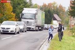 Protest na drodze krajowej w Chmieleniu 23