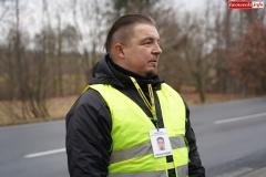 Blokada drogi krajowej - protest w Chmieleniu 03