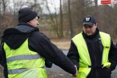 Blokada drogi krajowej - protest w Chmieleniu 05