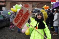 Blokada drogi krajowej - protest w Chmieleniu 07