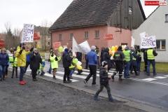 Blokada drogi krajowej - protest w Chmieleniu 08