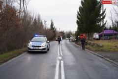 Blokada drogi krajowej - protest w Chmieleniu 09