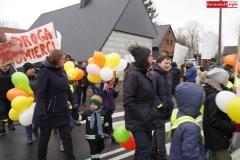 Blokada drogi krajowej - protest w Chmieleniu 10